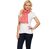 Denim & Co. Stripe Paisley Print Scarf 28 x 72 - A274531