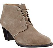 Vionic Orthotic Suede Lace-up Boots - Zenda - A279931