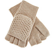Isaac Mizrahi Live! 2-Ply Cashmere Convertible Gloves - A281631