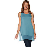 LOGO Layers by Lori Goldstein Knit Tank with Textured Trim - A282131