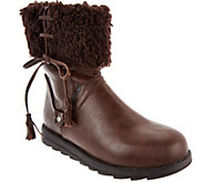 MUK LUKS Shirley Faux Leather Foldover Sherpa Boot - A283131