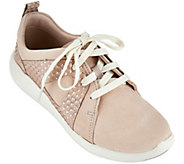 As Is Clarks Artisan Nubuck Lace-up Sneakers - Cowley Faye - A283631