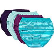 Jockey Seamfree Comfies Microfiber 4-Pack Brief Panties - A286631
