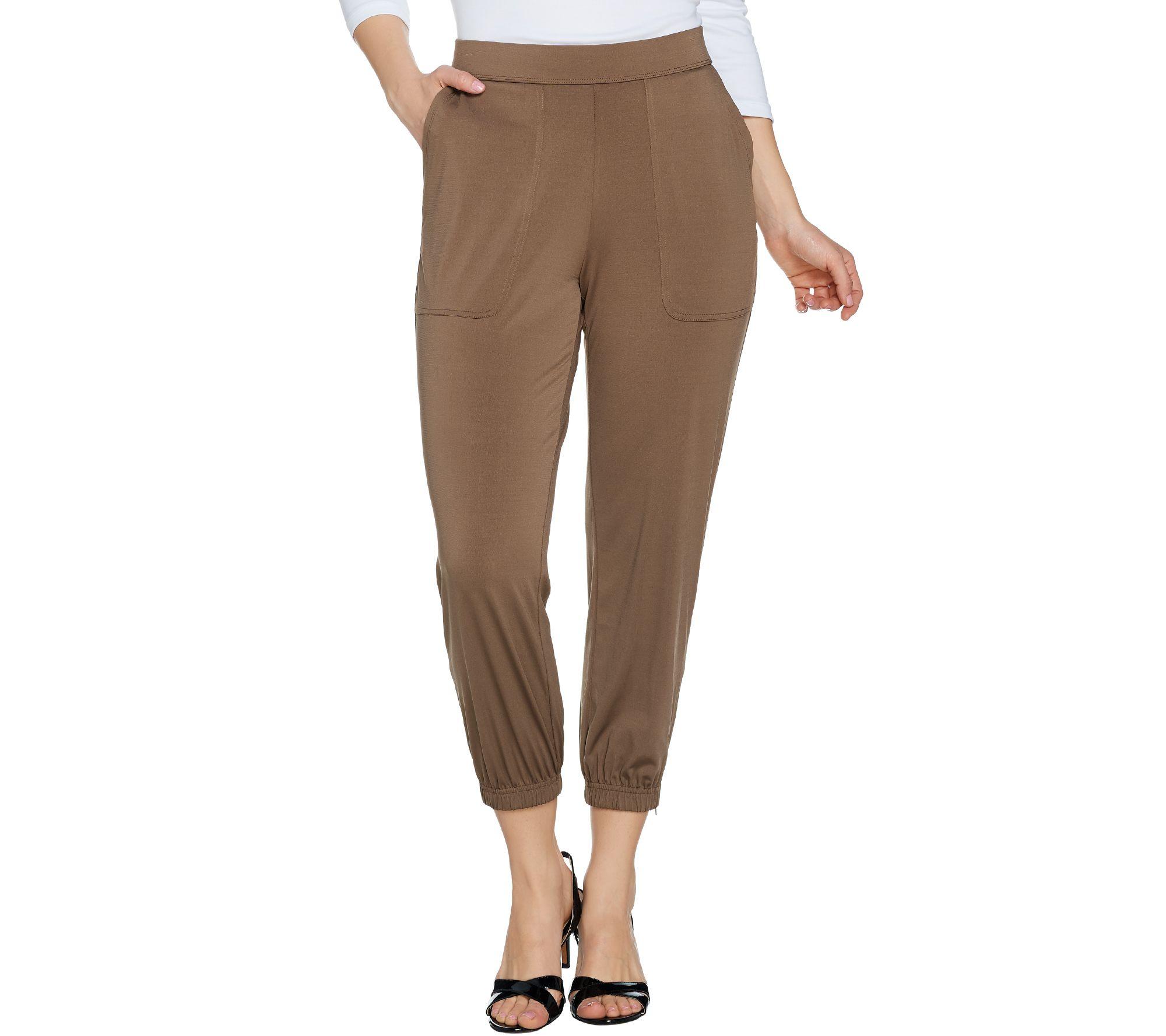 New Customer Qvc Promo Code - Lisa rinna collection regular banded bottom knit crop pants a287831