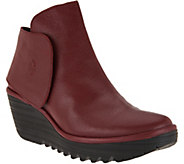FLY London Leather Wedge Boots - Yogi - A287931