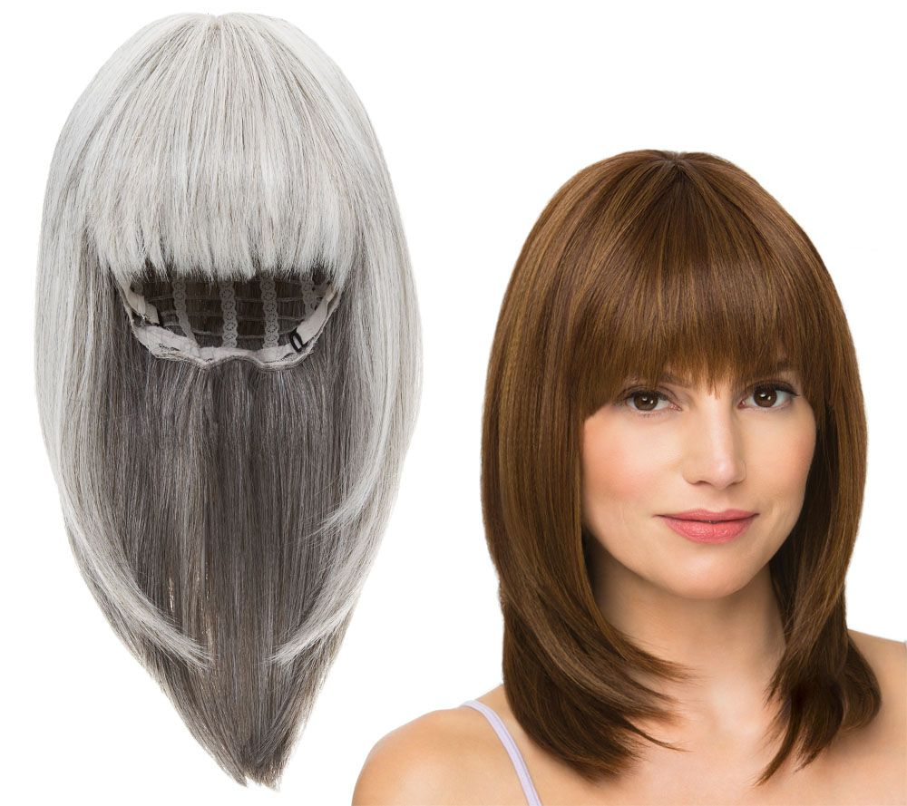 Wigs extensions hair care beauty qvc luxhair by sherri shepherd light touch wig with bangs a288331 pmusecretfo Gallery