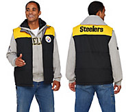 As Is NFL 5-IN-1 Reversible Vest and Hoodie Combo - A291131