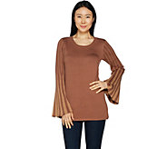 Attitudes by Renee Pleated Bell Sleeve Sweater - A294131