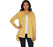 LOGO by Lori Goldstein Cardigan with Mesh Stitch Detail - A299631