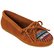 Minnetonka Suede Leather Moccasins - KiltyArizona Fabric - A338531
