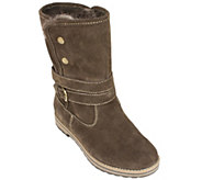 White Mountain Suede Leather Winter Boots - Powder - A338831