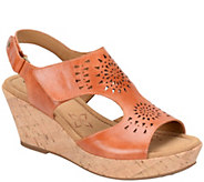 Comfortiva by Softspots Leather Wedge Sandals -Rainer - A339231