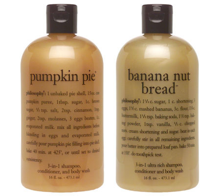 Philosophy Pumpkin Pie Amp Banana Nut Bread 3 In 1 Shower