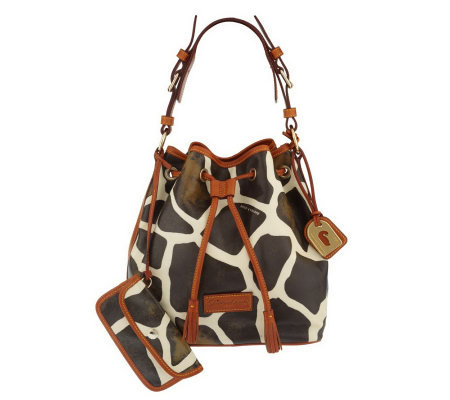 Dooney & Bourke Giraffe Print Drawstring Bag
