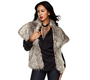 M by Marc Bouwer Faux Fur Capelet with Pockets - A218132