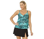 Ocean Dream Signature Skin Deep Tiered Tankini with Skirtini - A233032