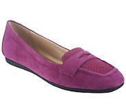 Isaac Mizrahi Live! Suede Loafers with Novelty Trim - A235532