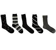 Passione Jess Set of 5 Luxury Cotton Crew Socks - A236132