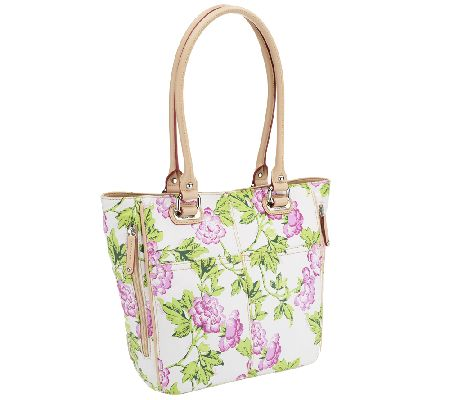 Tignanello Printed Leather Bed of Roses Tote Bag - A252432