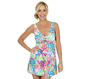 Ocean Dream Signature Summer Breeze Tie Front Swim Dress - A252532