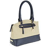 Liz Claiborne New York Double Strap Canvas Satchel - A252632