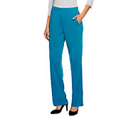 As Is Susan Graver Milano Knit Regular Pull-on Full Length Pants - A258332