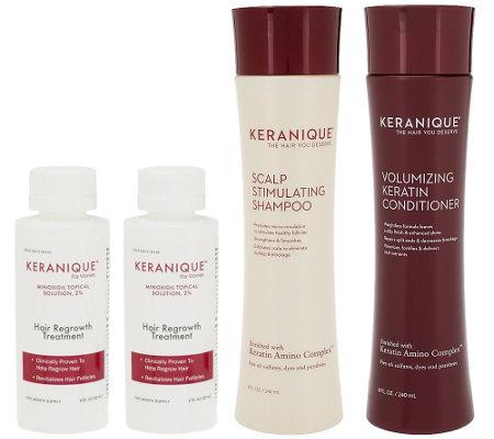keranique 4 piece hair regrowth treatment auto delivery a qvc