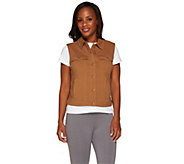 Denim & Co. Active French Terry Denim Style Vest - A266832