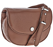 Isaac Mizrahi Live! SOHO Leather Snap Crossbody - A268832