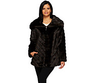 Dennis Basso Platinum Collection Pelted Faux Mink Jacket - A272432