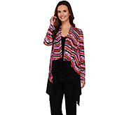 Attitudes by Renee Printed Drape Front Cardigan and Tank Set - A273532