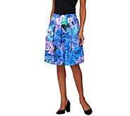 Isaac Mizrahi Live! Photoreal Floral Printed Neoprene Skirt - A275432