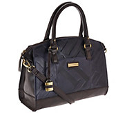 As Is Tignanello Glazed Vintage Embossed Zip Top Satchel - A275932