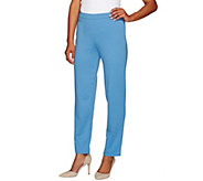 As Is Bob Mackies Pull-on Ponte Knit Straight Leg Pants - A276932