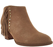 Vionic Suede Fringe Ankle Boots - Faros - A279932