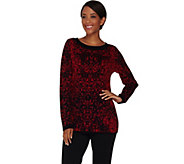 Dennis Basso Jacquard Pullover Sweater - A280532
