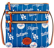Dooney & Bourke MLB Nylon Dodgers Triple Zip Crossbody - A281532