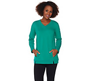 Denim & Co. Active Crossover V-neck Long Sleeve Tunic - A282432