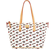 Dooney & Bourke NCAA University of Georgia Zip Top Shopper - A283232