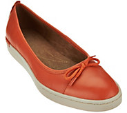 As Is Clarks Artisan Leather Slip-ons with Bow Accent - Cordella Alto - A283632
