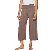 AnyBody Loungewear Cozy Knit Foldover Waist Gaucho Pants - A289832