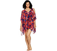 Contour by Beach Scene Cold Shoulder Swim Cover Up - A291332