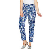 As Is Isaac Mizrahi Live! Petite 24/7 Stretch Ankle Pants - A300432