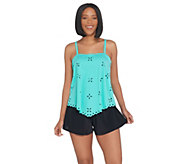 Fit 4 U Handkerchief Laser Cut Tankini Swimsuit - A304232