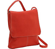 Le Donne Leather Vertical Large Flap-Over Bag - A361232