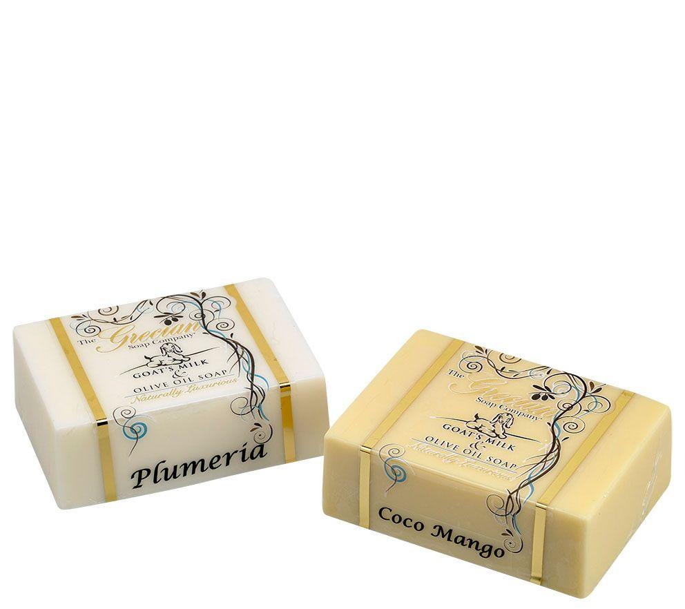 The Grecian Soap Company Goat\'s Milk Soap Bars - Page 1 — QVC.com