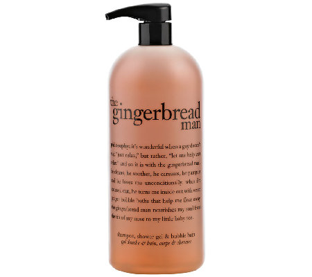 philosophy super-size gingerbread man 3-in-1 gel 32 oz.