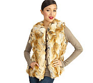 Luxe Rachel Zoe Faux Fur Vest with Hook & Eye Closure - A93632