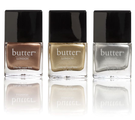 butter LONDON Heavy Medal Metallic Nail Polish Trio