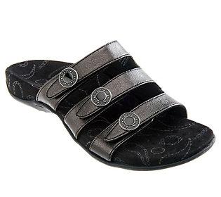 Vionic Orthotic Triple Strap Sandals - Ashley
